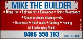 Dingo Hire   Tight Access   Excavation   Home Maintenance   Concrete sleepe...