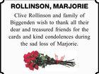 ROLLINSON, MARJORIE