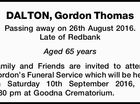 DALTON, Gordon Thomas