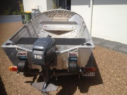 3.55 metre Quintrex tinnie in VG condition with 15HP Yamaha  stroke outboard on a Stessco trailer. I...