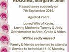 HUGGINS, Margaret Jean