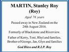 MARTIN, Stanley Roy (Roy)