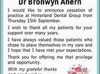 Dr Bronwyn Ahern
