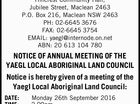 YAEGL LOCAL ABORIGINAL LAND COUNCIL