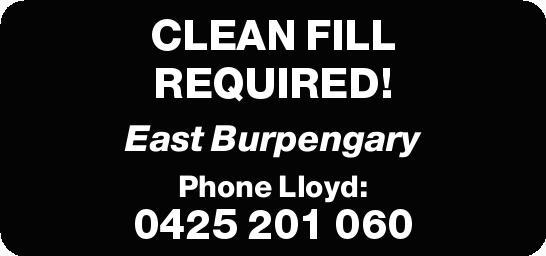 East Burpengary   Phone Lloyd: 0425 201 060