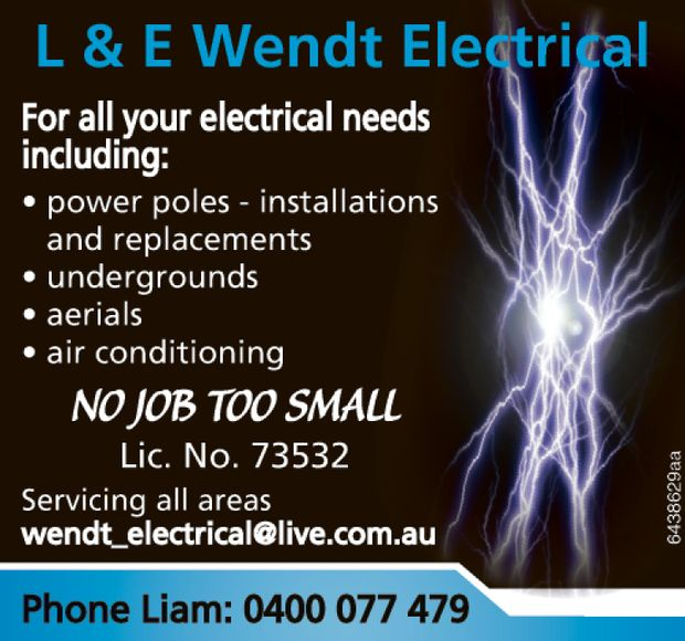 For all your electrical needs including: