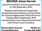 BECKER, Alwyn Harrod