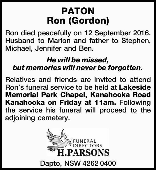 PATON Ron (Gordon)