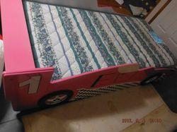 Girls Pink Car Bed -Mattress- Foam Underlay $180.00 Ph 46304460