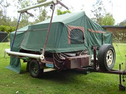 KOALA HD full off road powder coated galv camper, boat rack, 240 power points, 12V supply, elec w...