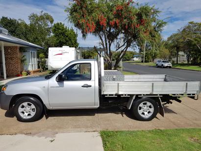 MAZDA BT50 4x2, man, 2.5 turbo diesel, 34,000 kms, E/C, alum tool box, 11 mths reg, $15,750 ono....