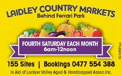 FOURTH SATURDAY EACH MONTH 6am-12noon 155 Sites | Bookings 0477 554 388 In Aid of Lockyer Valley Age...