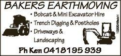 * Bobcat & Mini Excavator Hire * Trench Digging & Postholes * Driveways & Landscaping Ph...