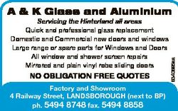 Servicing the Hinterland all areas Quick and professional glass replacement Domestic and Commercial...