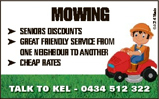 MOWING SENIORS DISCOUNTS