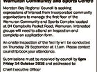 Expressions of Interest Management of first floor Wamuran Community and Sports Centre Moreton Bay Regional Council is seeking expressions of interest from incorporated community organisations to manage the first floor of the Wamuran Community and Sports Complex located at 84 Campbells Pocket Road, Wamuran. Interested groups will need to attend ...