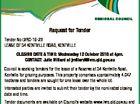 Lockyer Valley Regional Council Request for Tender Tender No LVRC-16-23 LEASE OF 34 KENTVILLE ROAD, KENTVILLE CLOSING DATE & TIME: Wednesday 12 October 2016 at 4pm. CONTACT: Julie Millard at jmillard@lvrc.qld.gov.au Council is seeking tenders for the lease of a Reserve at 34 Kentville Road, Kentville for ...