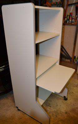 Adjustable shelves, key board slide out shelf. VGC