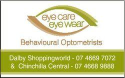 Behavioural Optometrists Dalby Shoppingworld - 07 4669 7072 & Chinchilla Central - 07 4668 9888