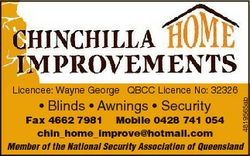 * Blinds * Awnings * Security 4819565ab Licencee: Wayne George QBCC Licence No: 32326 Fax 4662 7981...