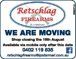 5699001ab DL # 50001452 WE ARE MOVING Shop closing the 19th August Available via mobile only after t...