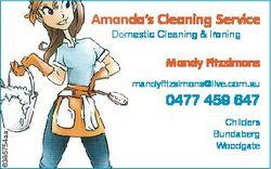 Amanda's Cleaning Service Domestic Cleaning & Ironing Mandy Fitzsimons mandyfitzsimons@live....