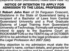 FORM 9 Legal Profession Act 2007
