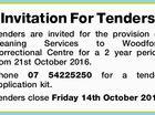 Invitation For Tenders