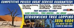 COMPETITIVE PRICES! GREAT SERVICE GUARANTEED! Tree Lopping,Trimming & Removal  Lot Clearing Stum...