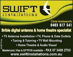 Chris Holdsworth 0403 817 541 Bribie digital antenna & home theatre specialist 6408707aa * TV An...
