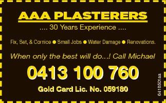 .... 30 Years Experience ....    Small Jobs  Fix, Set, & Cornice  Wate...