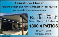 Sunshine Coast `Expert' Design and Advice, Obligation Free Quotes www.builderdirectpatios.com.au...
