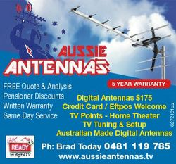 6272161aa 5 yEAr WArrAnTy FREE Quote & Analysis Pensioner Discounts Digital Antennas $175 Writte...