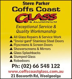"""Exceptional Service & Quality Workmanship  All Glass Repairs & Service Work  """"Invisi-ga..."""