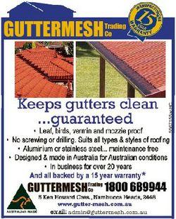 Trading Co 5567155acHC GUTTERMESH GUTTERMESH Trading Co * admin@guttermesh.com.au