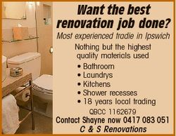 Want the best renovation job done? Most experienced tradie in Ipswich Nothing but the highest qualit...