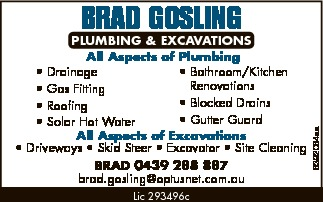 BRAD GOSLING PLUMBING & EXCAVATIONS 