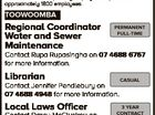 JOBS AT council Toowoomba Regional Council administers a diverse range of community services to a region rich in resources and opportunities. Sympathetic to the work life balance, Council offers stable and expanding employment options to its approximately 1800 employees. TOOWOOMBA Regional Coordinator Water and Sewer Maintenance PERMANENT FULL-TIME Contact Rupa ...