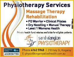 Massage Therapy Rehabilitation * PD Warrior * Clinical Pilates * Dry Needling * Manual Therapy * Lev...