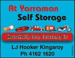 At Yarraman Self Storage LJ Hooker Kingaroy Ph 4162 1620 6385801aa Household, Cars, Caravans, Etc
