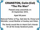 CRANSTON, Colin (Col)