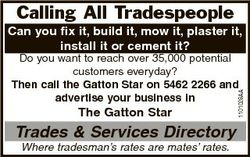 Calling All Tradespeople Can you fix it, build it, mow it, plaster it, install it or cement it? The...