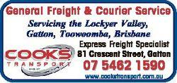 General Freight & Courier Service Servicing the Lockyer Valley, Gatton, Toowoomba, Brisbane Expr...