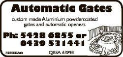 Automatic Gates custom made Aluminium powdercoated gates and automatic openers Ph: 5428 6855 or 0439...