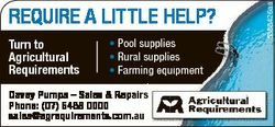 Turn to Agricultural Requirements * Pool supplies * Rural suppliess * Farming equipment Davey Pumps...