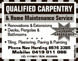 QUALIFIED CARPENTRY & Home Maintenance Service LIC: 1117907 / BLN: 20336858 5488046aaHC * Renova...