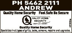 PH 5462 2111 Andrew 6073083aa Quality Home Security Feel Safe Be Secure Quality Home Security Specia...
