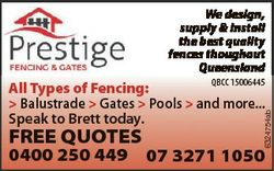 We design, supply & install the best quality fences thoughout Queensland FREE QUOTES 0400 250 44...