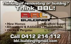 Thinking of renovating or building? * New Homes mes * Scaffold Supply * Alterations & Additions...