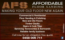 AFFORDABLE Commercial & Residential Floor Sanding & Polishing New and Old Floors Timber Deck...